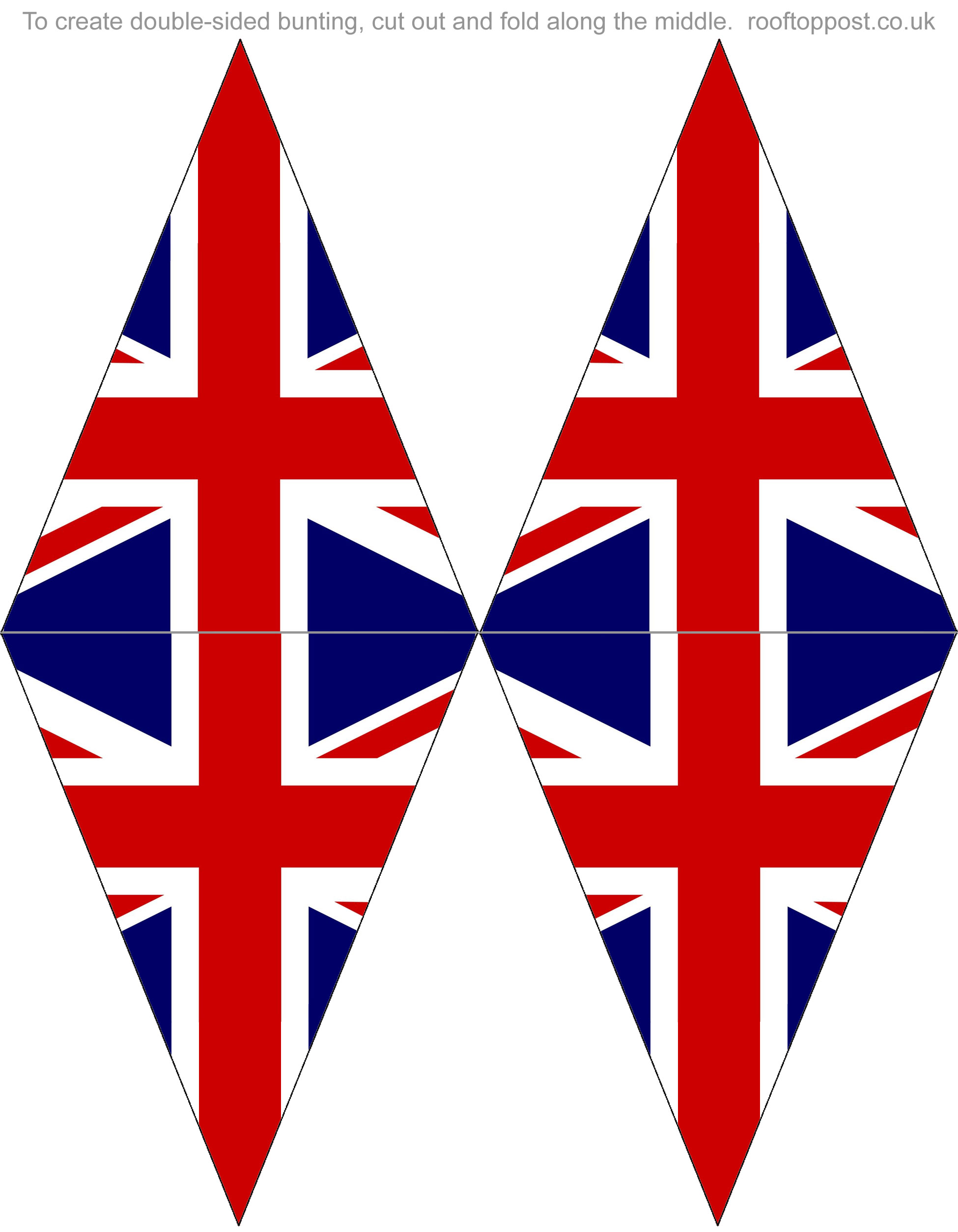Double Sided Printable British Flag Bunting