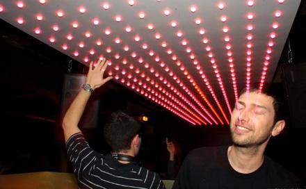 Room Division LED Club Installation BLUMENGOLD Köln