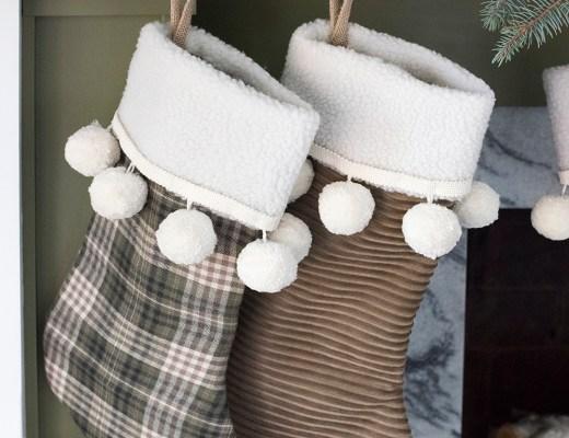 Christmas Stocking DIY - roomfortuesday.com