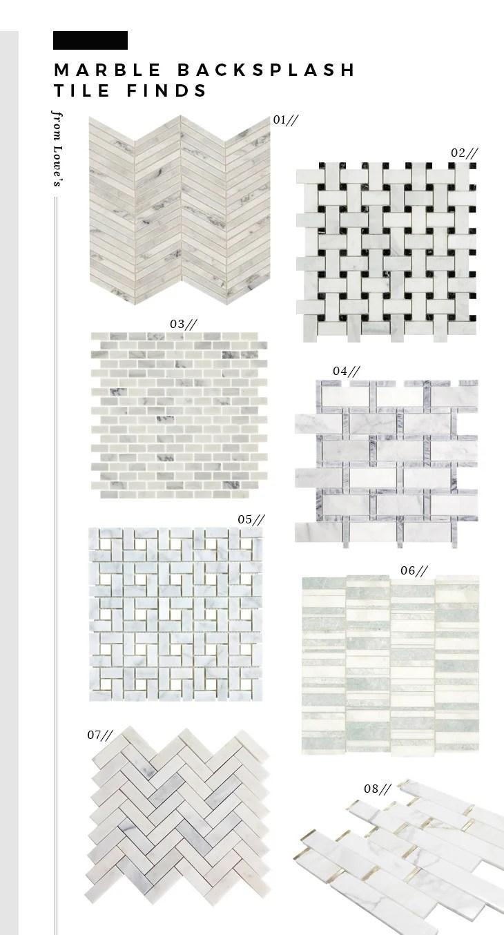 marble tile for a backsplash from lowe