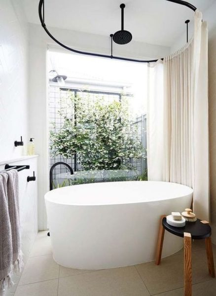 a freestanding tub