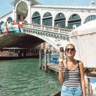 Venice Italy Gelato Room Service and Rose