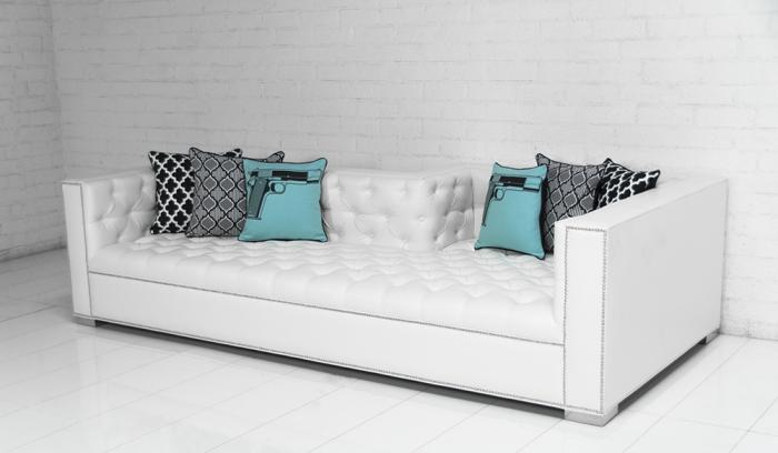 lola tufted sofa in mesa white faux leather