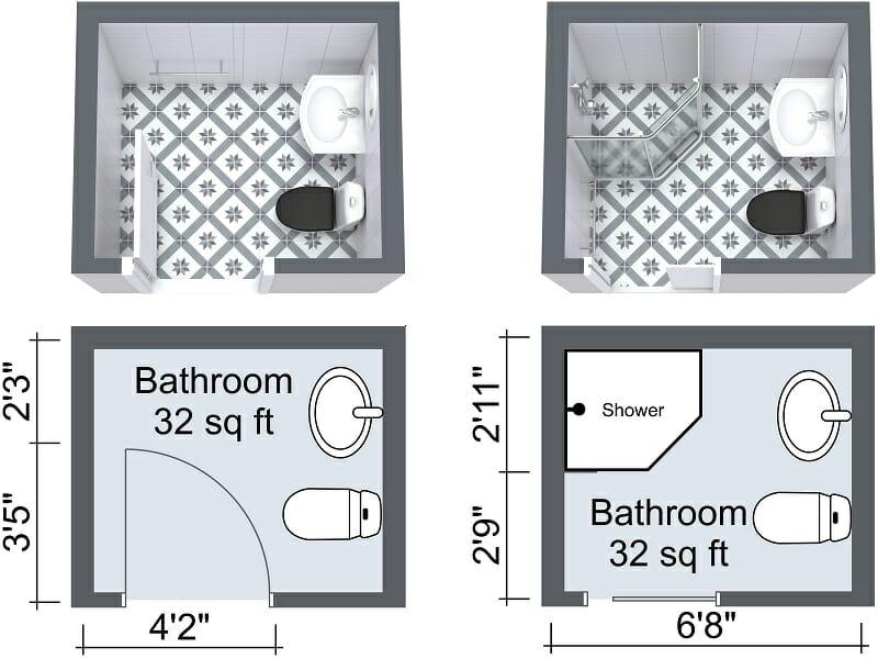 Small Bathroom Design Plans