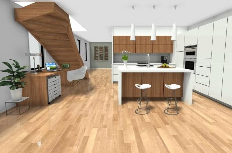 Roomsketcher Blog 8 Inspiring Kitchen Workstation Ideas | Kitchen Under Stairs Design | Cupboard | Living Room | Wet Bar | Basement Renovations | Staircase Storage