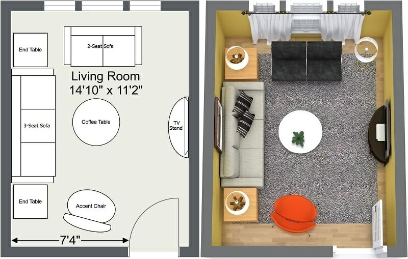 8 Expert Tips For Small Living Room Layouts Roomsketcher Blog. Plan Room  Layout Prissy Design ... Part 64