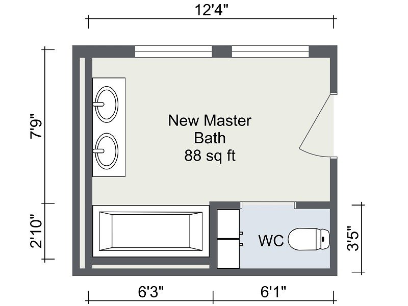 bathroom remodel | roomsketcher