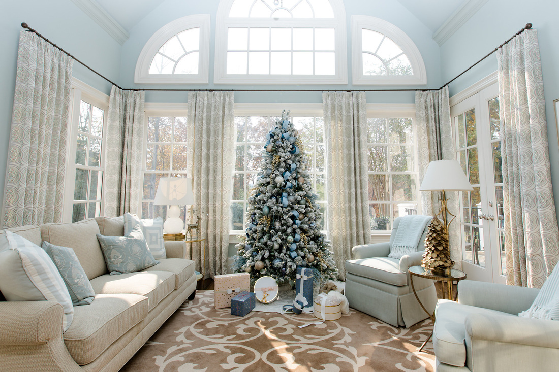 Holiday Season Interior Decorators Atlanta Blue Christmas