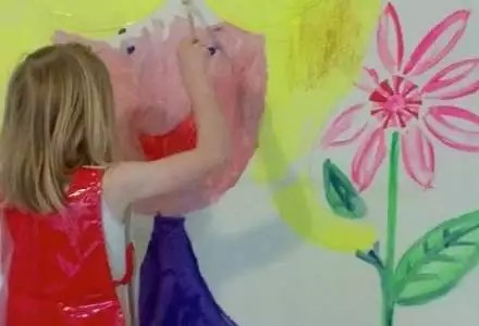 Create A Drawing Wall For Your Kids Room To Grow