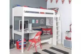 Uno S 28 Highsleeper With Sofa Bed Desk Hutch Cube Room To Grow
