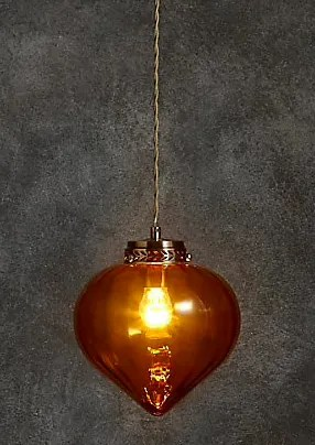 Roomy Home Marks and Spencer M&S Home Paloma pendant amber