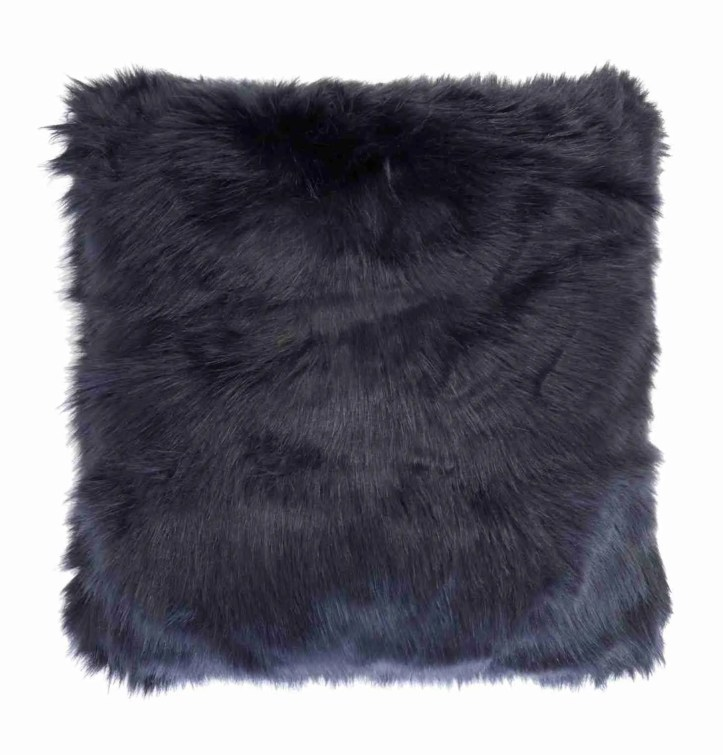 House of Fraser Biba navy faux fur cushion Roomy Home