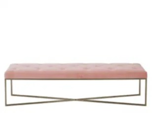 Julianne ottoman blush pink made