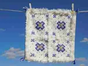 Etsy gift guide white blue Berber wedding cushion covers
