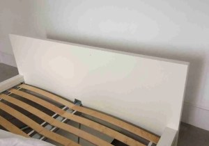How to make a DIY padded headboard existing Ikea Malm bed