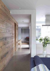 Roomy Home concrete interior floor Panelled walkway McCann Moore Architects