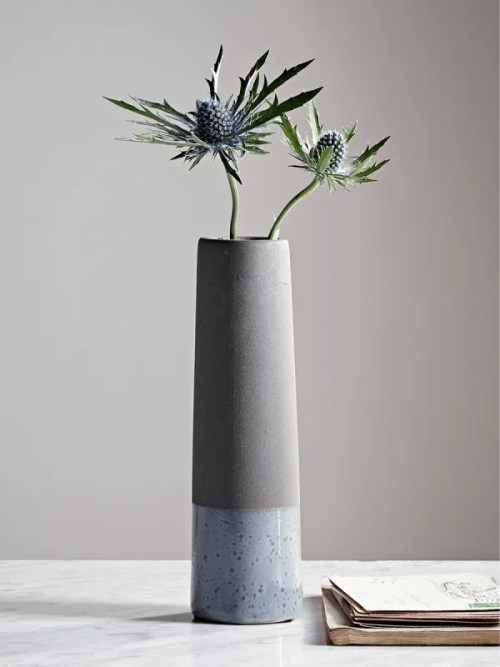 Roomy Home concrete interior luxe Cox and Cox concrete vase