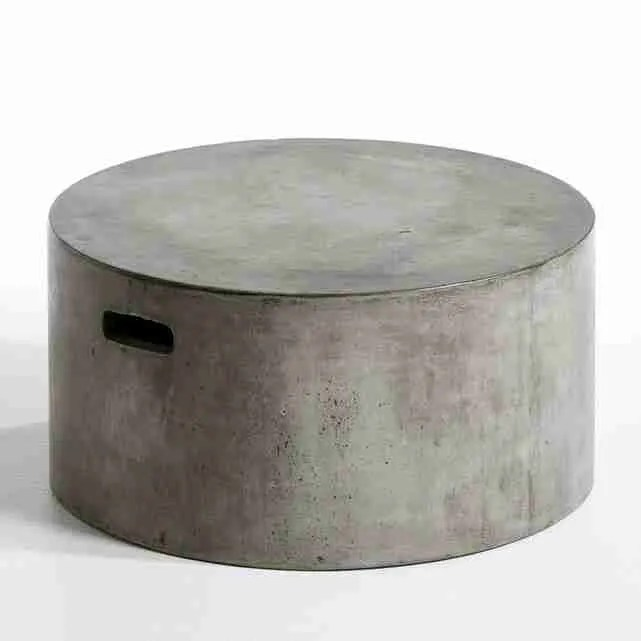 Roomy Home concrete interior luxe La Redoute Tatum table