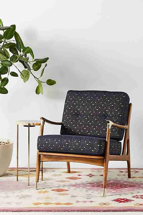 Moonlit Haverhill chair Anthropologie