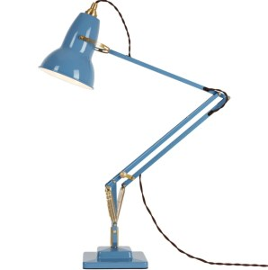 TK Maxx dusty blue anglepoise 1227 brass desk lamp