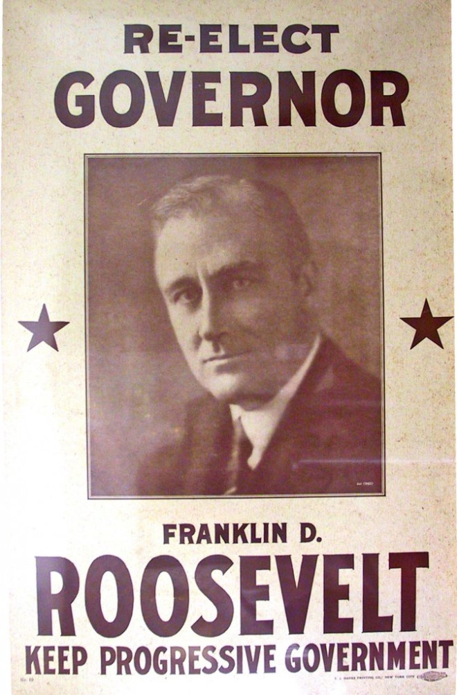 Poster for FDR's re-election campaign in 1930
