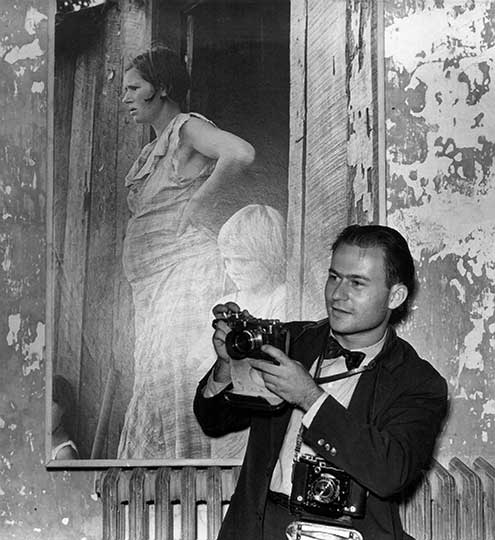 Arthur Rothstein at exhibition, age 23, in 1938