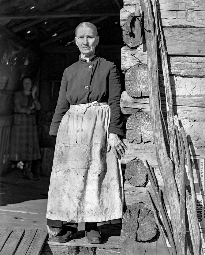 Minnie Knox, widow living with her daughter on farm. Garrett County, Maryland. 1937.