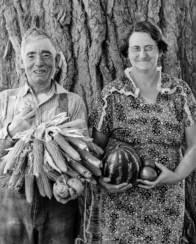 FSA borrowers, Mr. and Mrs. Andy Bahain. Kersey, Colorado. 1939.