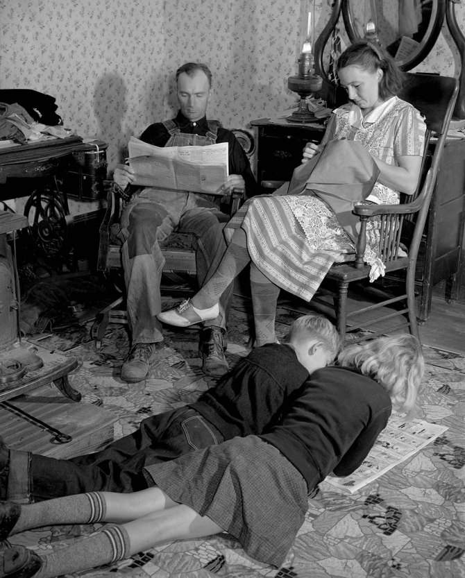 Dixon farm family. Since becoming rehabilitation clients the value of the family's possessions has risen from $500 dollars to $1,500. Saint Charles County, Missouri. 1939.