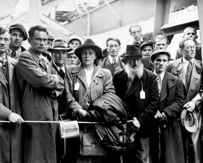 Refugees from Europe Arriving in New York City 1946