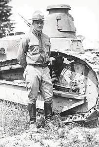 Dwight D. Eisenhower poses with a Tank