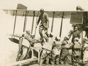 Picture of FDR on seaplane