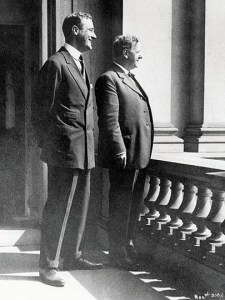 Picture of FDR and Josephus Daniels on balcony