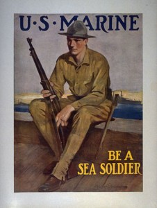U.S. Marine, Be a Sea Soldier Poster