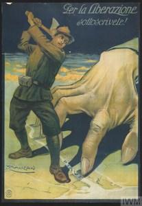 Per la Liberazione sottoscrivete!, 1915 [Subscribe for liberty!] Poster