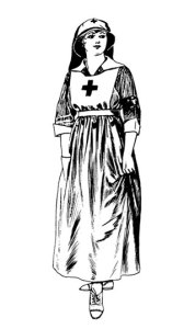 Sketch of Red Cross Uniform from WW1