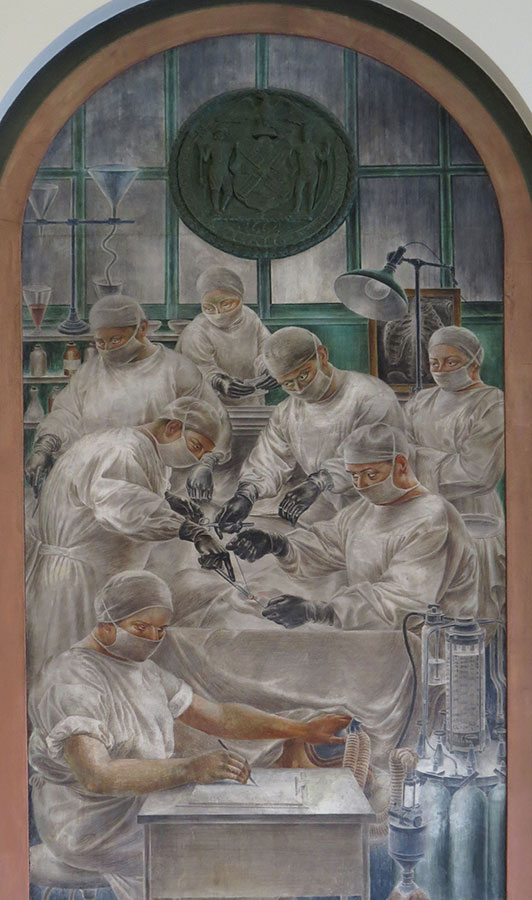 Alfred D. Crimi (1900-1994). Modern Surgery and Anesthesia. 1936. (NYCHealth+Hospital)