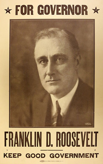 Poster of FDR for Governor