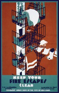 Be Fire Escapes Poster