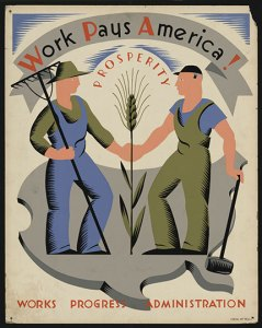 Work pays America Poster