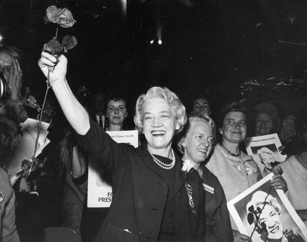 Margaret Chase Smith at the Republican Convention, 1964. (MCS)