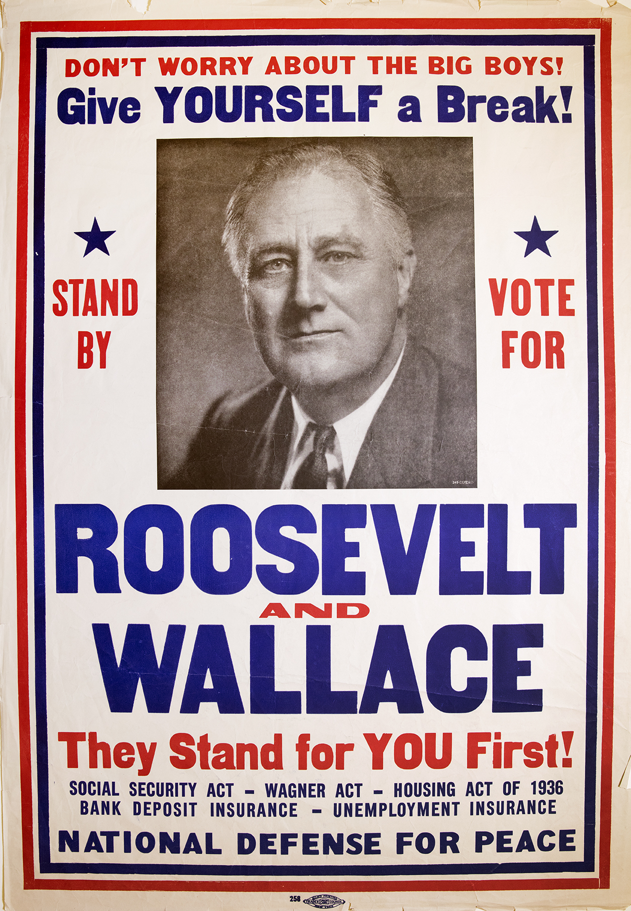 Roosevelt and Wallace. 1940. (FDRL)