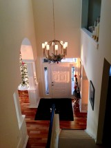Entry hallway viewed from upstairs