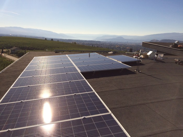 10 KW Kelowna low slope rooftop