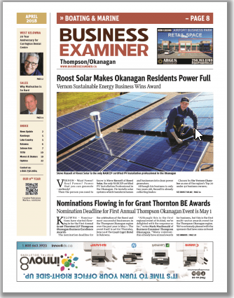 Business Examiner - Roost Solar Makes Okanagan Residents Power Full