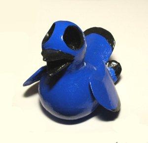 blue bird gourd art