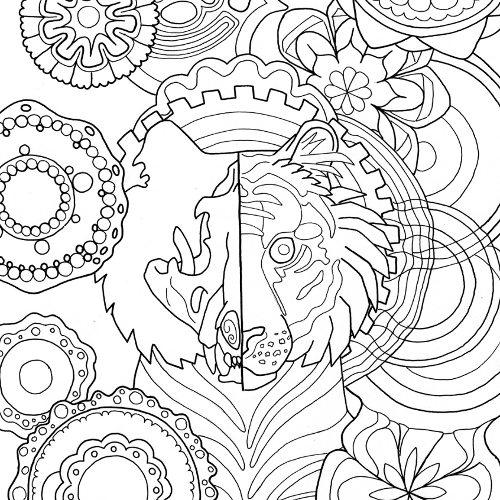 tiger mandala coloring page