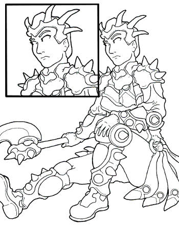 autumn avatar coloring page