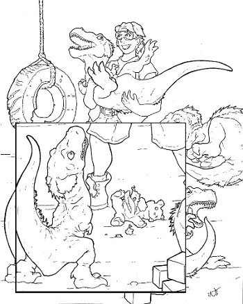 baby dinosaurs coloring page