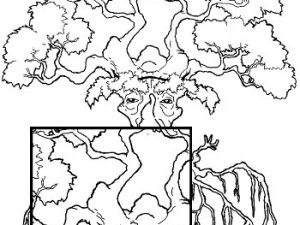 duality tree coloring page